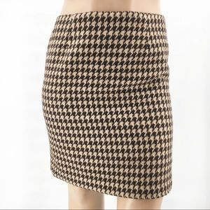 Talbots Woman Houndstooth Pencil Skirt